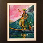 """What SUP"" Original oil By Norm Daniels. Size 15"" X 18"" Framed. Price Sold"